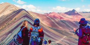 Tourist attractions outside Cusco rainbow mountain