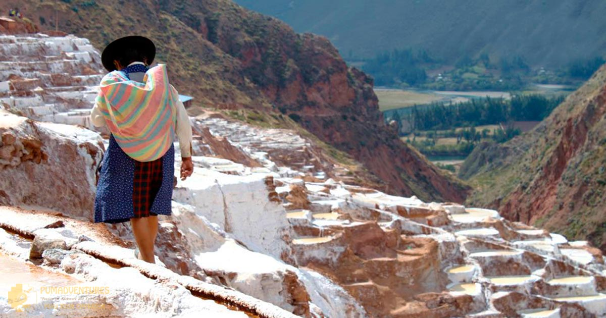 Inca salt mines in Sacred Valley